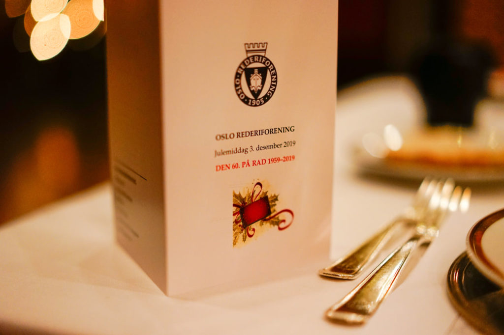 Christmas dinner at Oslo Shipowners' Association