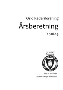Oslo Rederiforening Årsberetning 2018-2019